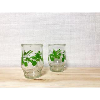 東洋佐々木ガラス - 最終価格🍋昭和レトロ🍋美品 オリーブ柄 レトロデザインタンブラー 冷茶グラス