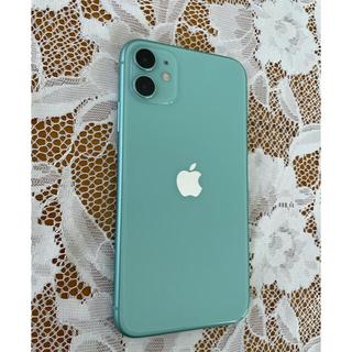 アップル(Apple)のiPhone11 256GB グリーンとiFace リフレクション(スマートフォン本体)