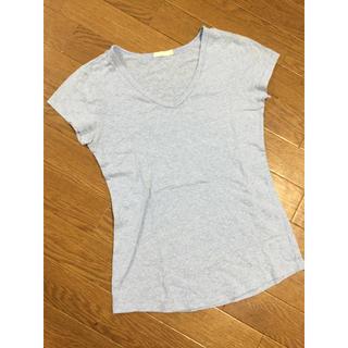 サーフ系♡ブルーシンプルラフトップス (Tシャツ(半袖/袖なし))