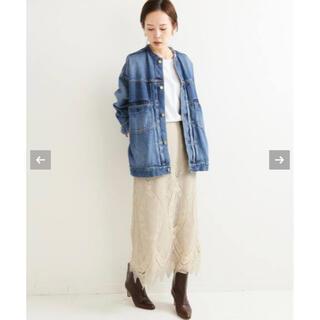 IENA - IENA★パネルレースロングスカート