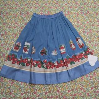 JaneMarple - ジェーンマープル Strawberry label scarf スカート