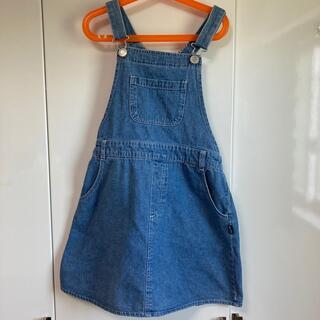 シマムラ(しまむら)のデニムジャンパースカート 150センチ(スカート)