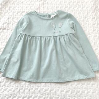 NEXT - ネクスト うさぎ刺繍 長袖Tシャツ 12-18m