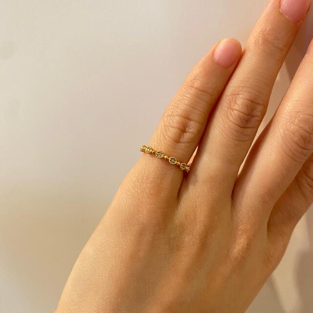 NOJESS(ノジェス)の⭐︎値下げ中⭐︎NOJESS ノジェス ピンキーリング 指輪 K10 YG 5号 レディースのアクセサリー(リング(指輪))の商品写真