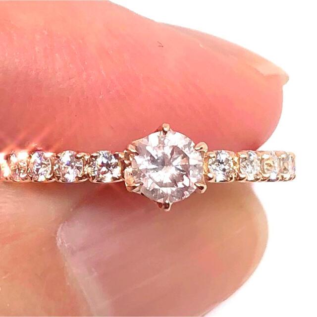 ピンクダイヤモンド 0.25ct FLOP I1 K18PG リング レディースのアクセサリー(リング(指輪))の商品写真