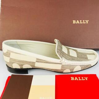 Bally - 新品未使用★BALLY★キャンバスレザーモノグラム ローファー(35 1/2)