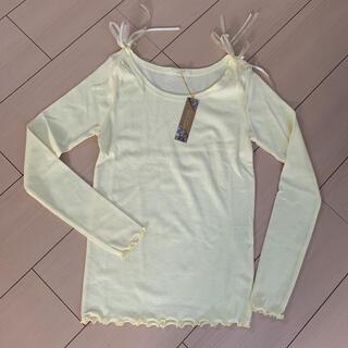 ナイスクラップ(NICE CLAUP)の黄色長袖Tシャツ M(Tシャツ(長袖/七分))