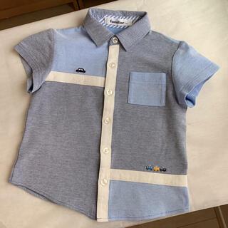 ファミリア(familiar)の♡極美品♡ ファミリア ポロ 長袖 シャツ 水色 110 (その他)