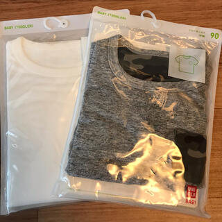 UNIQLO - 未使用 UNIQLO 半袖ポケットTシャツ 90 2枚セット