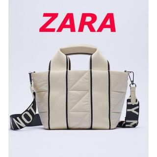 ザラ(ZARA)の新品 ZARA  ナイロンテキストシティバック(ショルダーバッグ)