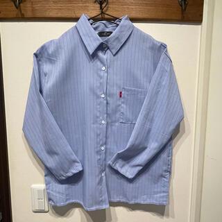 66girls - 韓国 ブルー ストライプ ブラウス Yシャツ