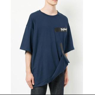 ファセッタズム(FACETASM)のFACETASM ファセッタズム テープビッグT 半袖Tシャツ ネイビー 紺(Tシャツ/カットソー(半袖/袖なし))