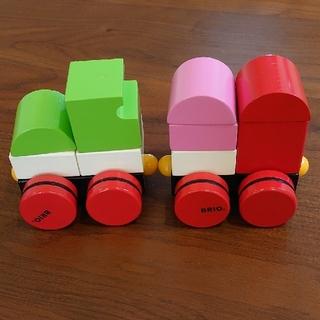 ブリオ(BRIO)のBRIO ブリオ スタッキングトレイン マグネット つみき 木製 電車(積み木/ブロック)