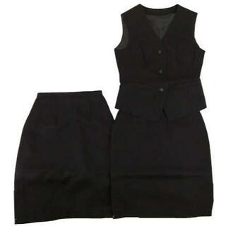 KFC0459-2■新品 事務服 ベスト×スカート2枚 3点セット 5号 (スーツ)