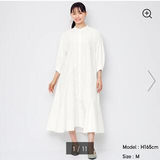 GU - バンドカラーシャツワンピース(7分袖) 新品M GU