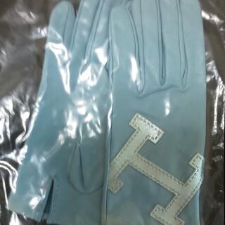 Hermes - 国内エルメスブティック購入ブルー手袋