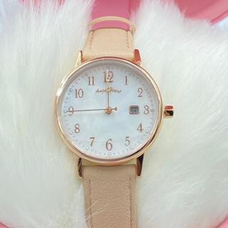 エンジェルハート(Angel Heart)のエンジェルハート女性腕時計薄ピンク電池交換いらない革バンド(腕時計)