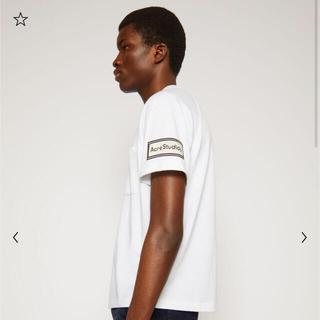 アクネ(ACNE)のAcne Studious 反転ラベル付きTシャツ ホワイト(Tシャツ/カットソー(半袖/袖なし))
