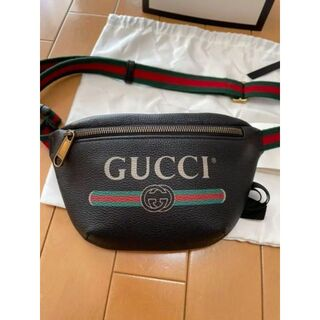 Gucci - GUCCI グッチプリントレザーベルバッグ