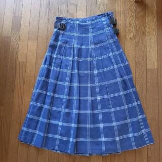 エイゴズキ様専用綿麻プリーツ巻きスカート(ロングスカート)