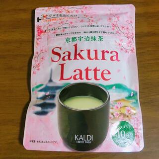KALDI - カルディ 京都宇治抹茶サクララテ インスタントティー 70g 桜
