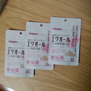 オリヒロ(ORIHIRO)のオリヒロ エクオール&発酵高麗人参粒 30粒(30日分) x3袋(その他)