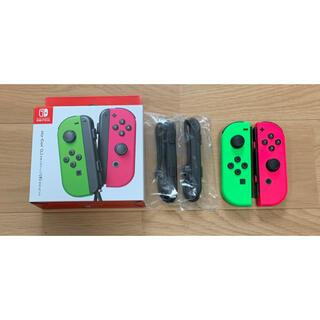 Joy-Con Switch 左右セット ジョイコン スプラトゥーンカラー(その他)