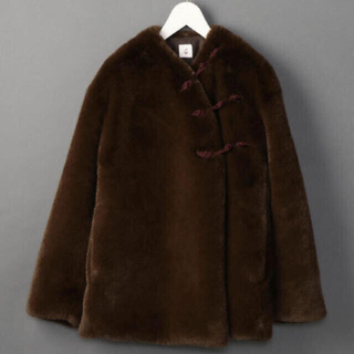 BEAUTY&YOUTH UNITED ARROWS - ROKU 6 FAKE FUR CHINA OUTER コート 36