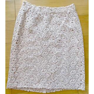 ドルチェアンドガッバーナ(DOLCE&GABBANA)の新品同様♡ DOLCE&GABBANAの最高級のマクラメレースのスカート(ひざ丈スカート)