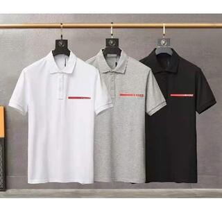プラダ(PRADA)の人気新作/プラダ PRADA ポロシャツ/ブラック、XL(ポロシャツ)