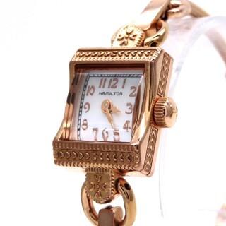 ハミルトン(Hamilton)の【HAMILTON】ハミルトン 時計 'ピンクゴールド'ホワイトシェル ☆美品☆(腕時計)