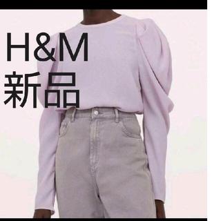 H&M - h&m♡シアーブラウスパワショルブラウスシースルーブラウスボリュームスリーブ