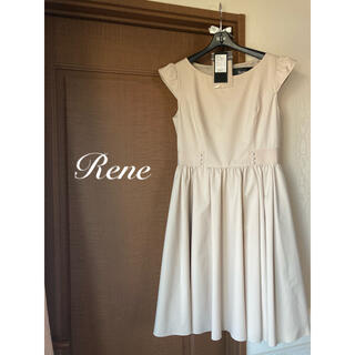 René - ルネrene♡ 2020年 レイニー ワンピース ベージュ36 タグ付