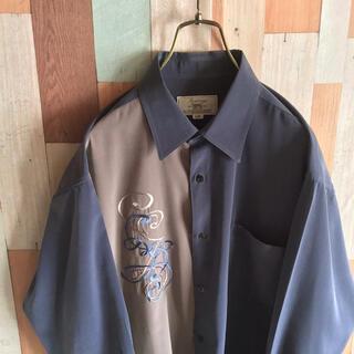 アートヴィンテージ(ART VINTAGE)のvintage jantreno 古着 90s デザインシャツ 刺繍柄 好配色(シャツ)