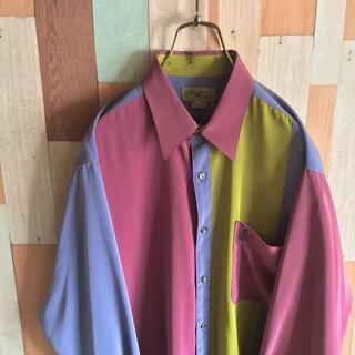 アートヴィンテージ(ART VINTAGE)のArtFish 古着 vintage 切り替えシャツ 好配色 90s  ポリ(シャツ)