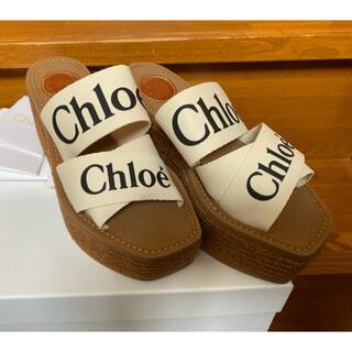 クロエ(Chloe)のJ様専用☆クロエ☆2021☆WOODY☆ウェッジサンダル☆36(サンダル)