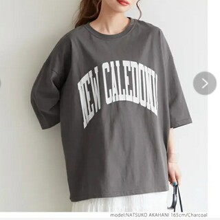 coca 古着加工半袖Tシャツカットソー チャコール 新品