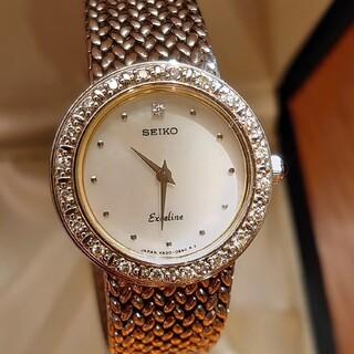 セイコー(SEIKO)のセイコーエクセリーヌ ダイヤモンド取り巻きレディース時計(腕時計)