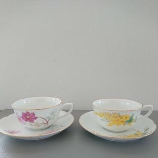 オオクラトウエン(大倉陶園)のペアコーヒーカップ &ソーサー(グラス/カップ)