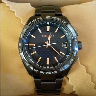 セイコー(SEIKO)のブラック チタン セイコー ブライツ sagz093 ソーラー電波時計(腕時計(アナログ))