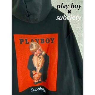 プレイボーイ(PLAYBOY)の【play boy】×【subciety】パーカー ブラック 激レア コラボ(パーカー)