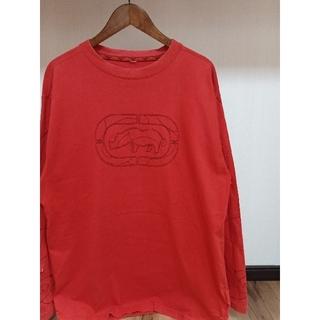 エコーアンリミテッド(ECKŌ UNLTD(ECKO UNLTD))の唯一出品 激レア ECKO エコー 美品 袖刺繍 ビックロゴ スエット 珍品(スウェット)