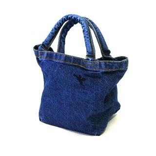⭐天使の刺繍 パイプハンドル ミニデニムトートバッグ ウォッシュブルー⭐x02