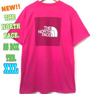 ザノースフェイス(THE NORTH FACE)の結構ビッグ☆ 新品 ノースフェイス BOX Tシャツ ピンク XXL 3L(Tシャツ/カットソー(半袖/袖なし))