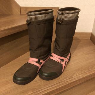 アシックス(asics)のアシック ミドルブーツ25センチ(ブーツ)