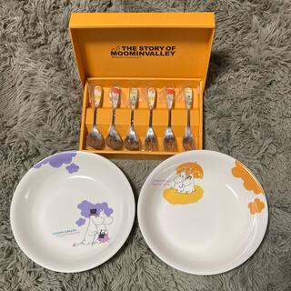 ムーミン カレーパスタ皿 カトラリーセット(食器)