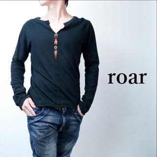 ロアー(roar)のroar/ロアー スワロフスキークリスタル 長袖カットソー 黒/ロンT(Tシャツ/カットソー(七分/長袖))