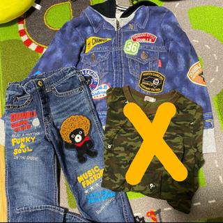 ダブルビー(DOUBLE.B)のダブルB 騙し絵パーカー、デニム、長袖130(ジャケット/上着)