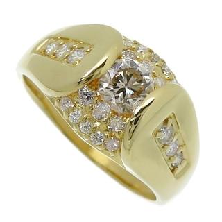 リング・指輪  K18 ダイヤモンド(中央)