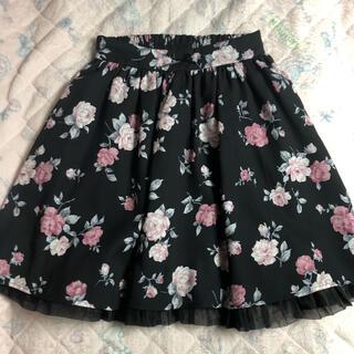 アンクルージュ(Ank Rouge)の花柄スカート(ひざ丈スカート)